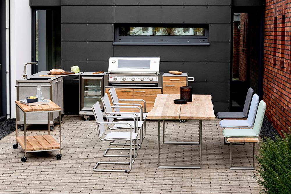 Pro Outdoor Kitchen Corner Connecting Unit Niehoff Garden